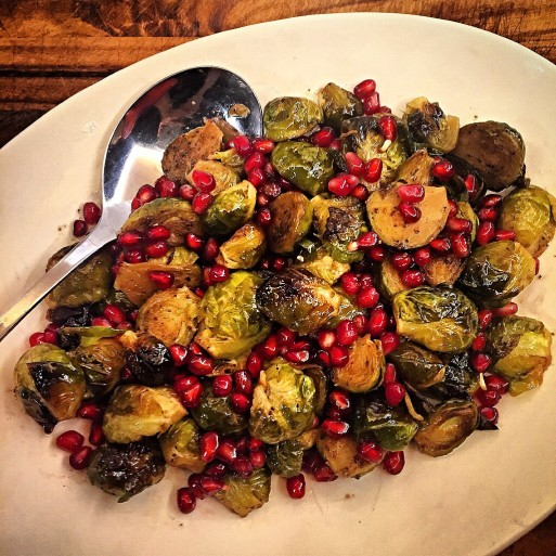 Roasted Brussels Sprouts with Pomegranate Seeds
