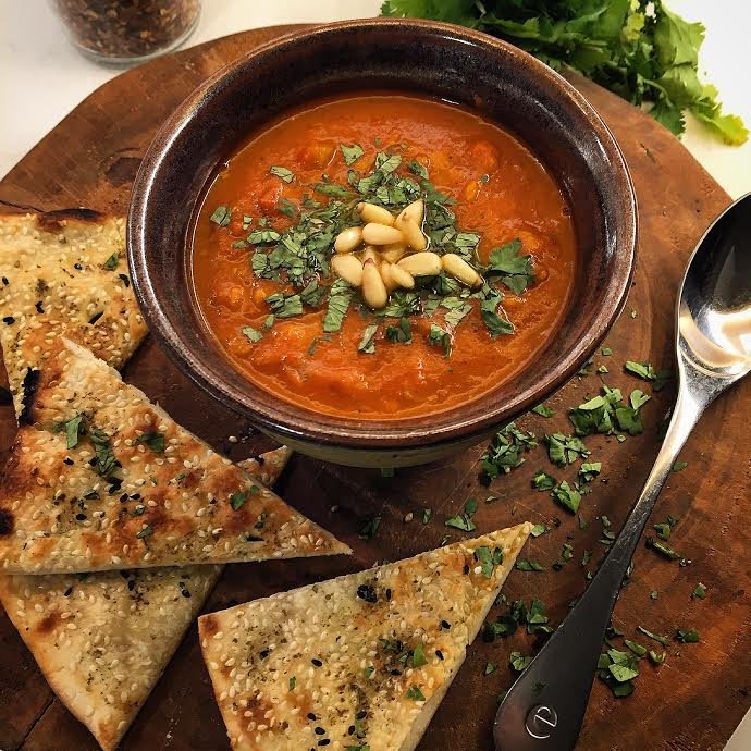 Moroccan Tomato and Red Lentil Soup