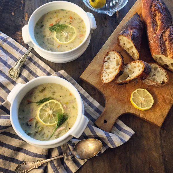Uber Lemony Chicken and Orzo Soup