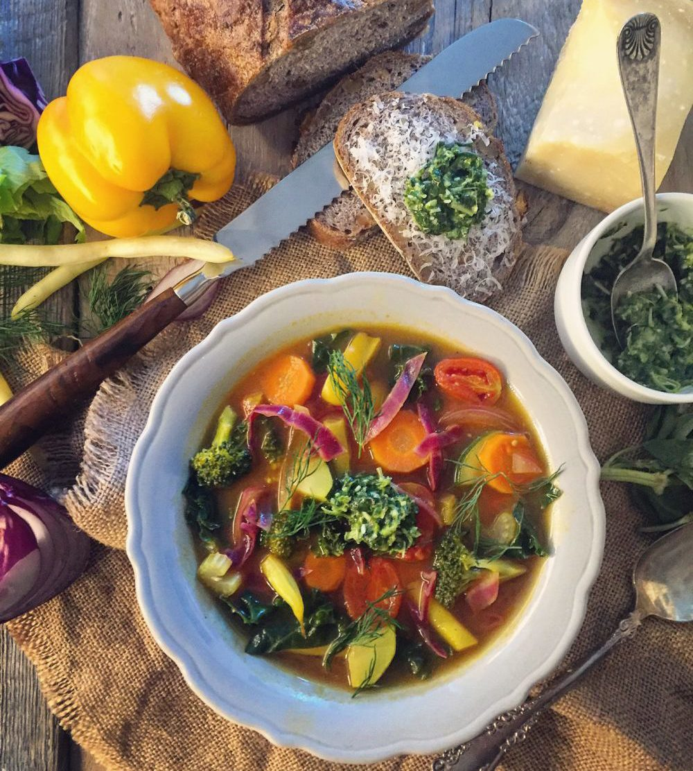 Summer Fresh Vegetable Soup with Pistou