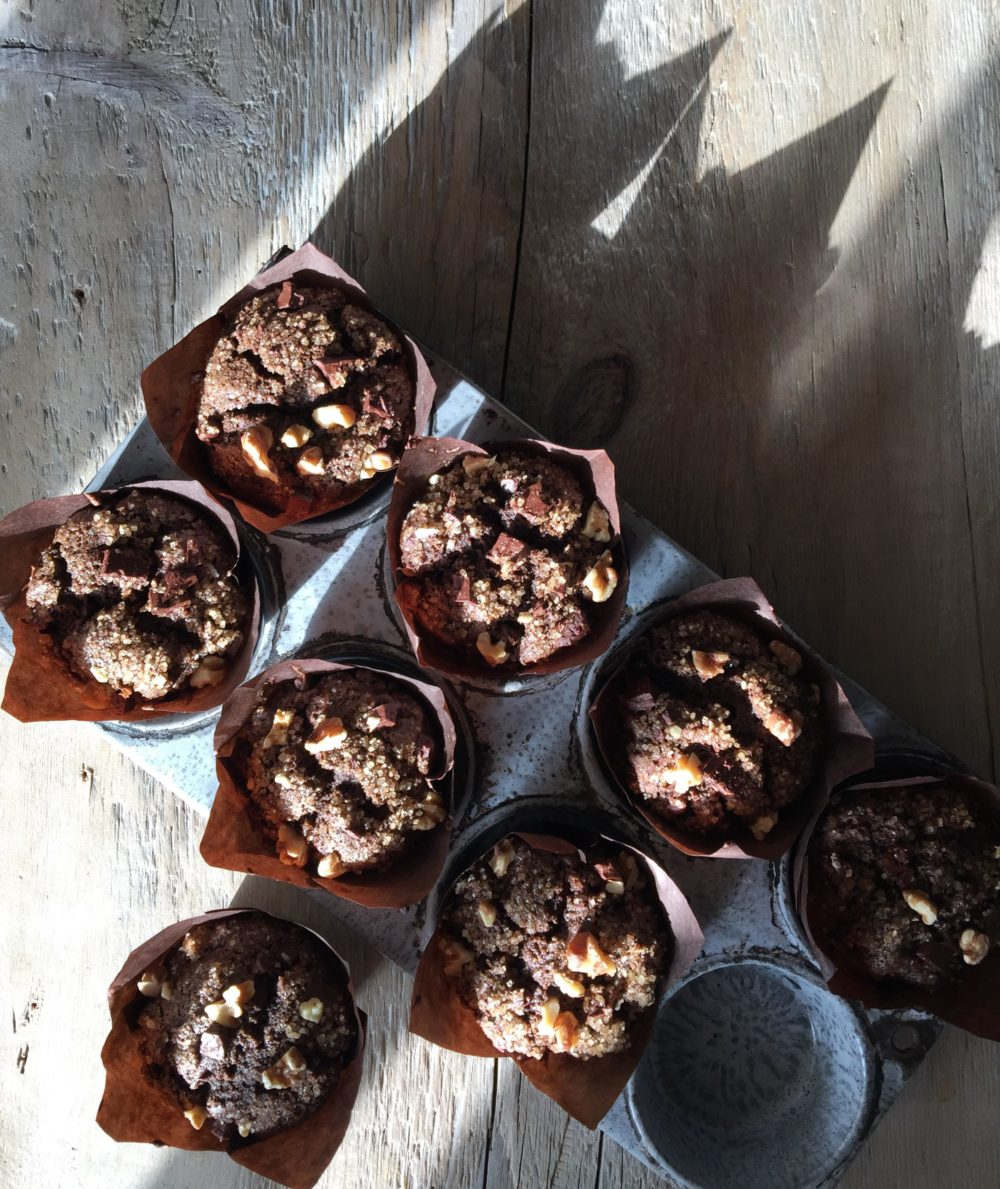 Espresso Chocolate Muffins with Walnuts and Black Walnut ...