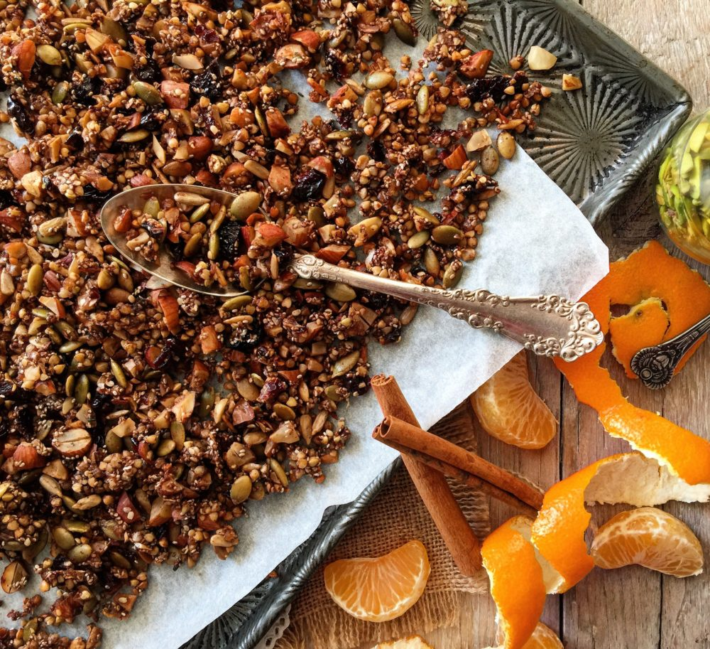 Fragrant Gluten Free Gingerbread Buckwheat Granola