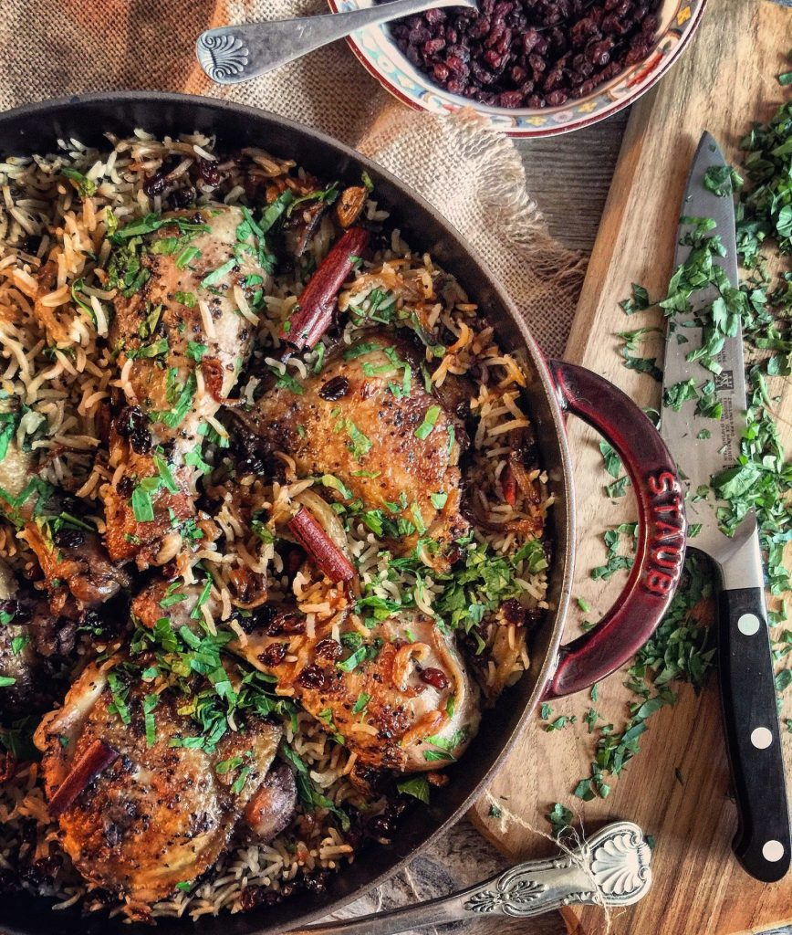 A Celebration of Food, Napa 2016 and Chicken with Caramelized Onions and Cardamom Rice