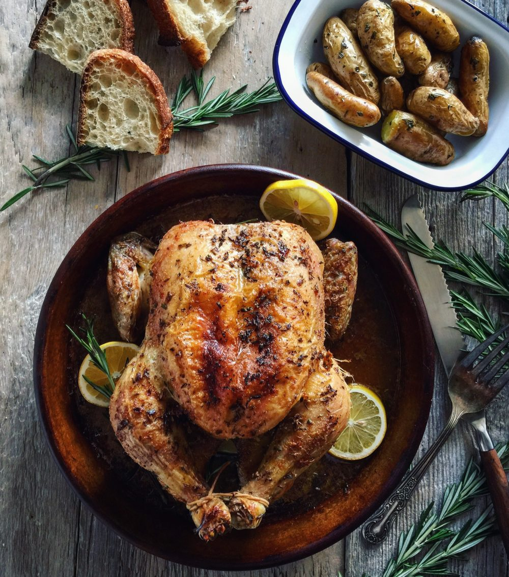 Roast Chicken with Fennel, Rosemary and Lemon