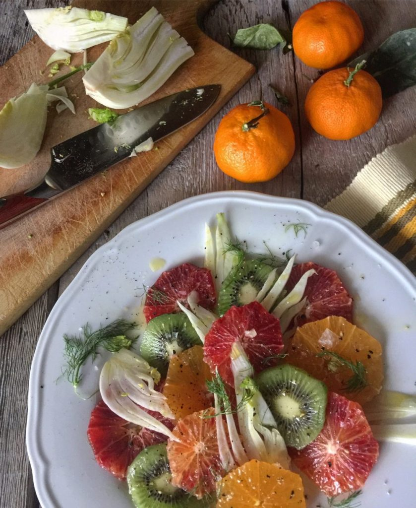 Citrus and Fennel Salad with Kiwi