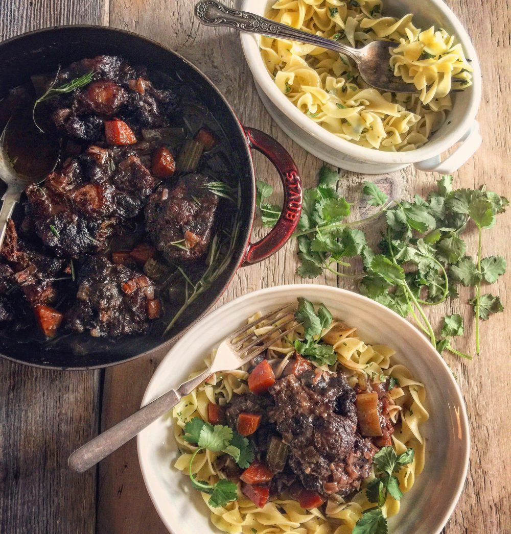 Cocoa and Red Wine Braised Oxtails