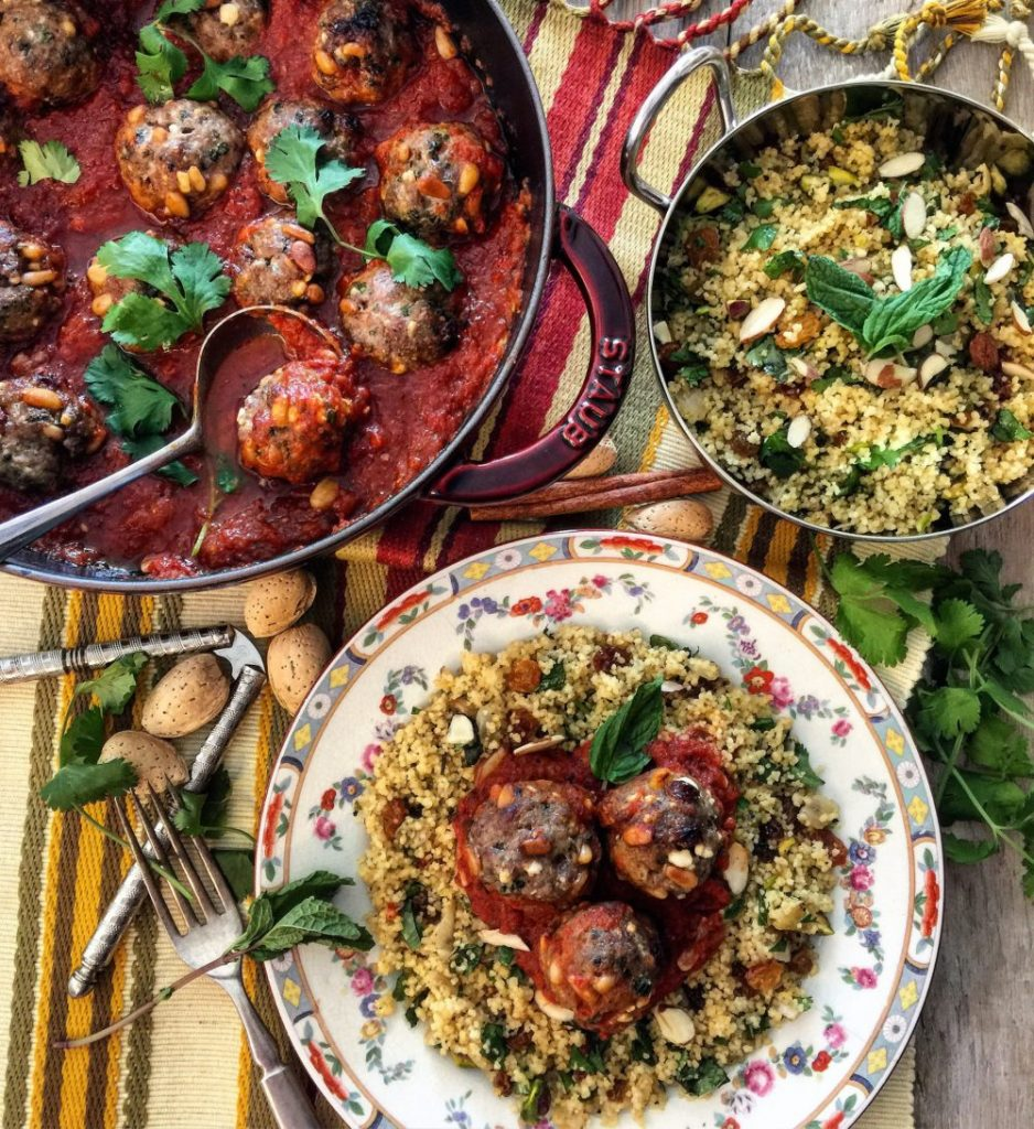 Moroccan Meatballs with Jewelled Couscous