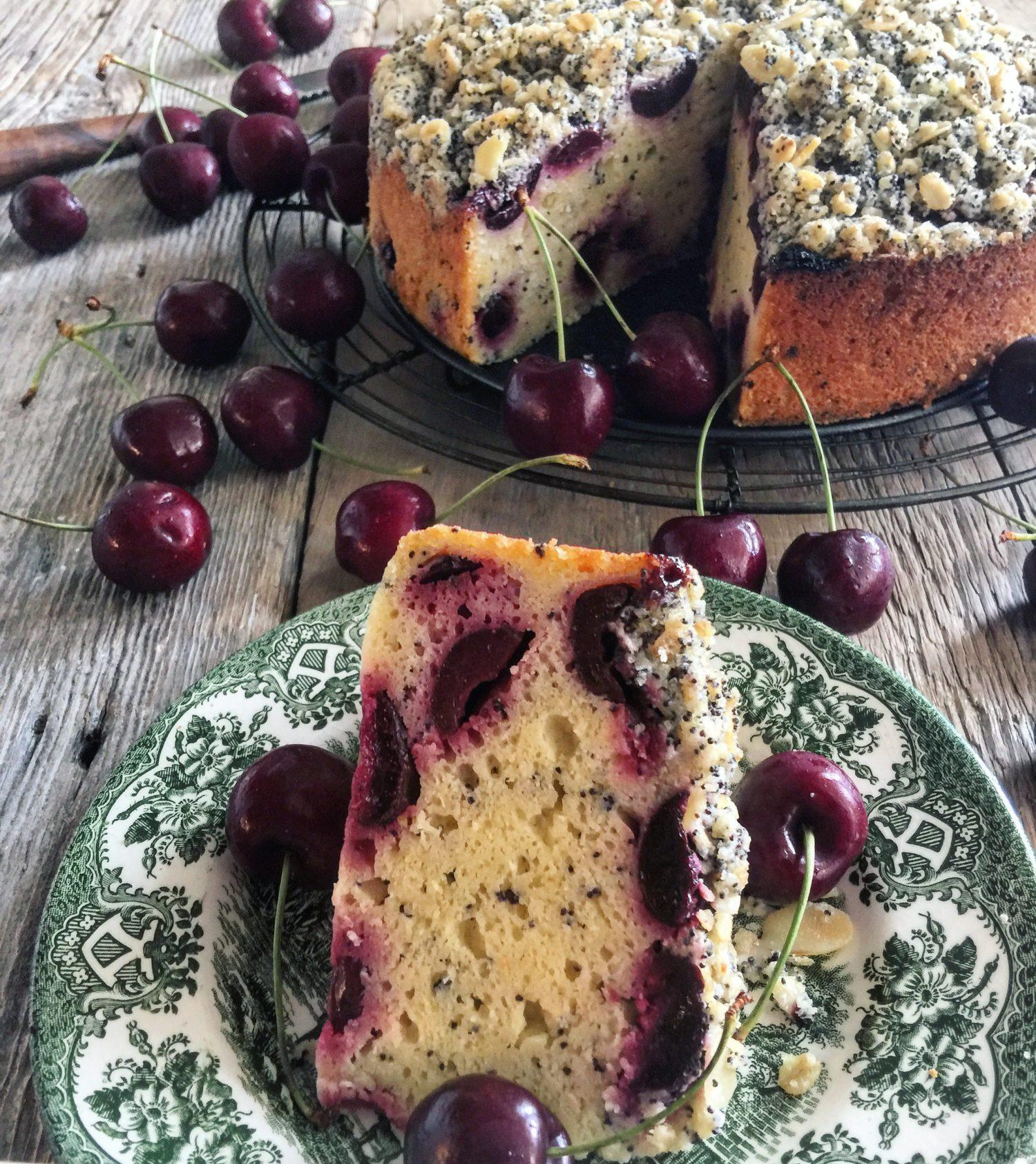 cherry poppyseed cake