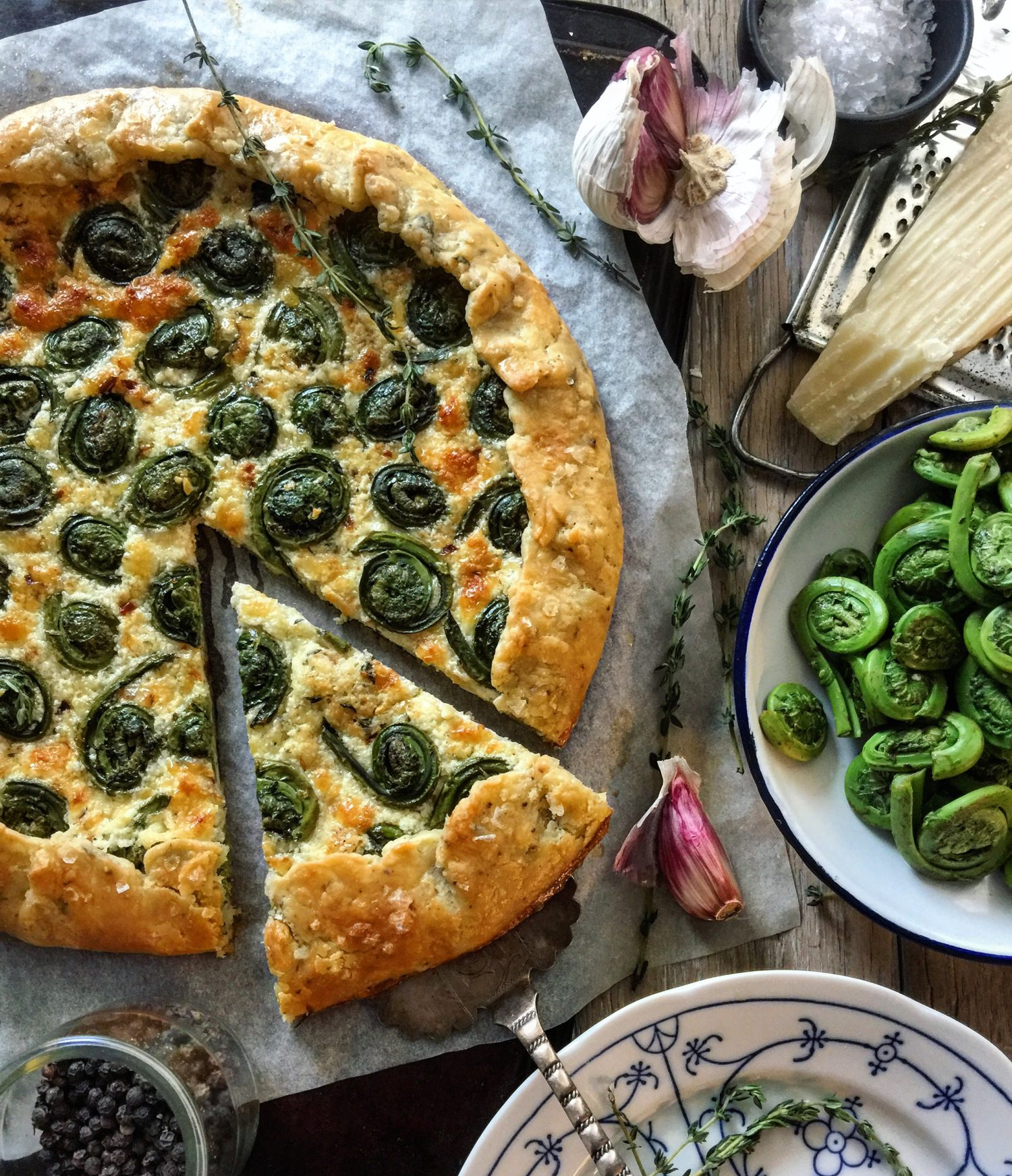 Fleeting Fiddlehead Galette