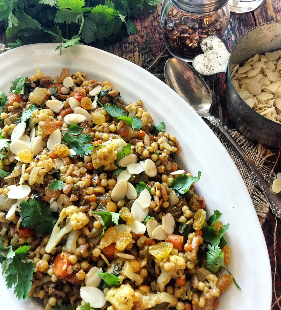 jewelled Israeli couscous