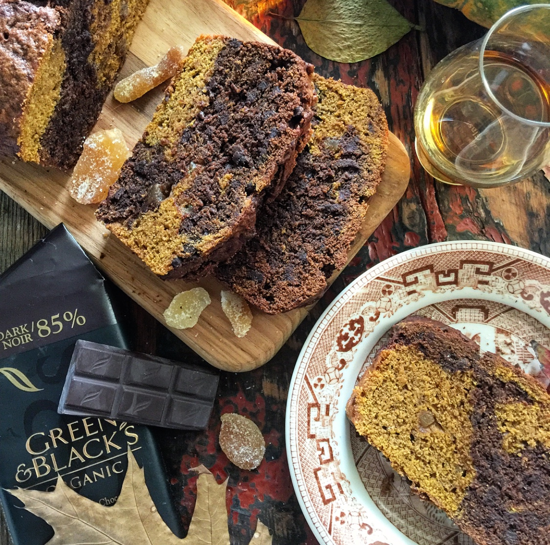 Pumpkin Chocolate Swirl Loaf