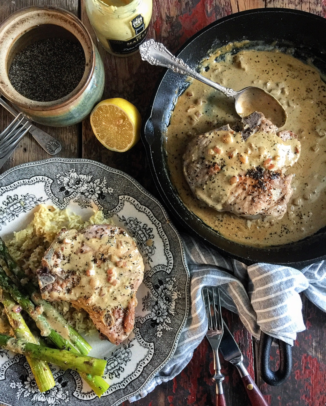 Pork Chops in Mustard Sauce