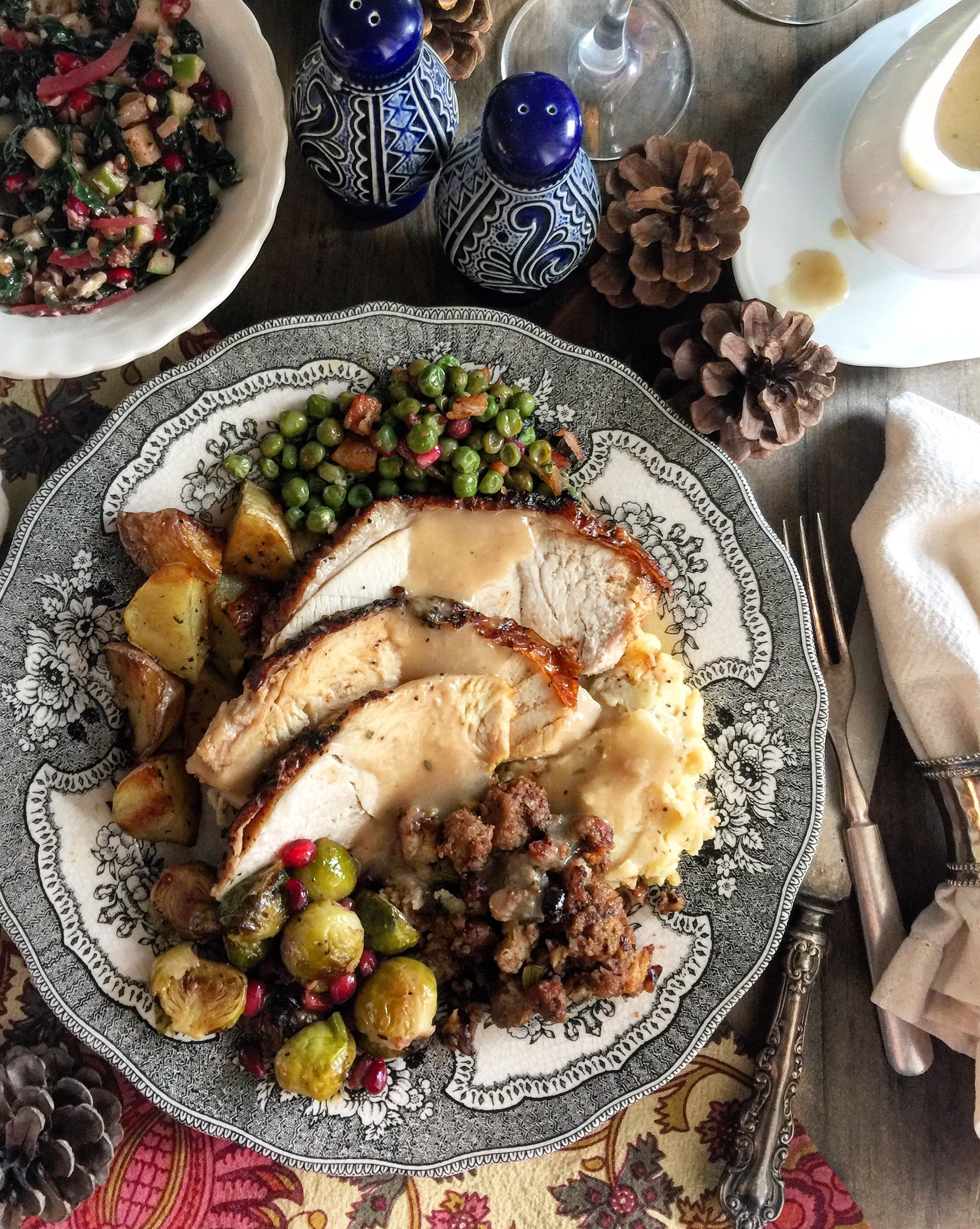 Sage Butter Roast Turkey with Cider Gravy | The Lemon Apron