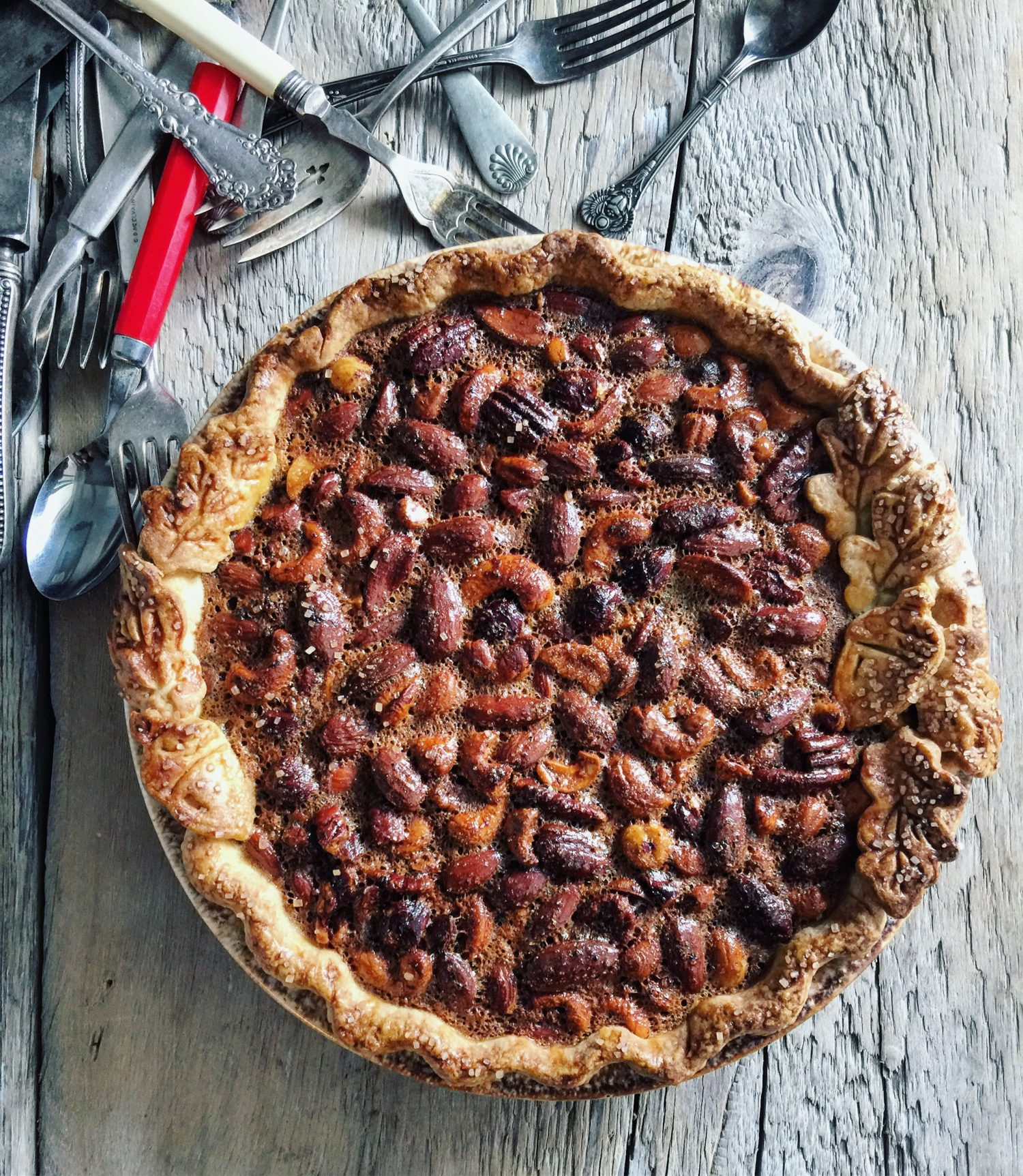 Spiced Mixed Nuts PIe