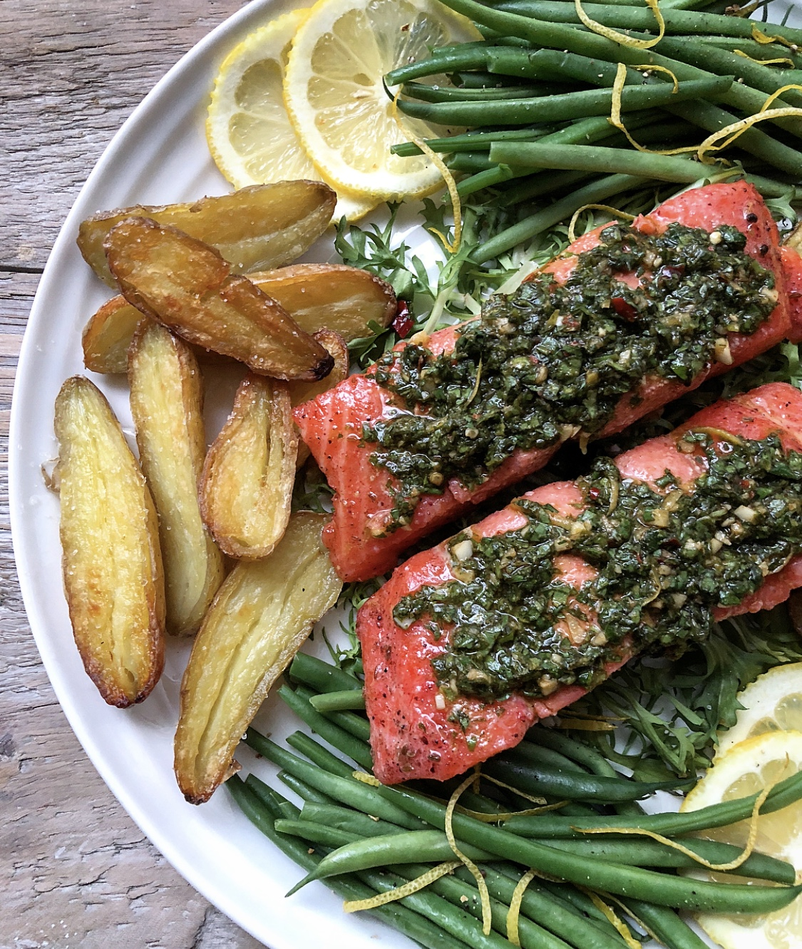 Salmon Confit with Chermoula