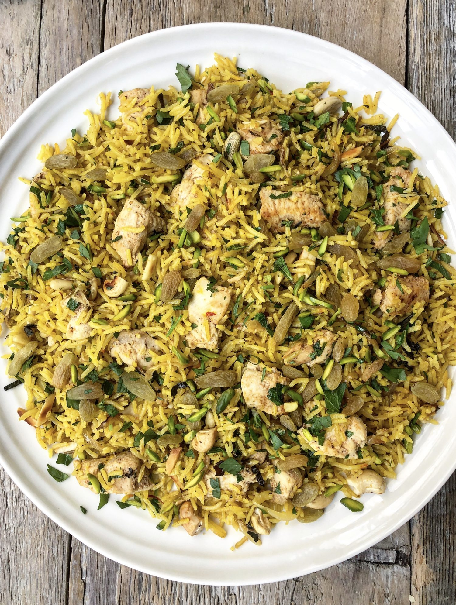 Saffron Chicken pilaf