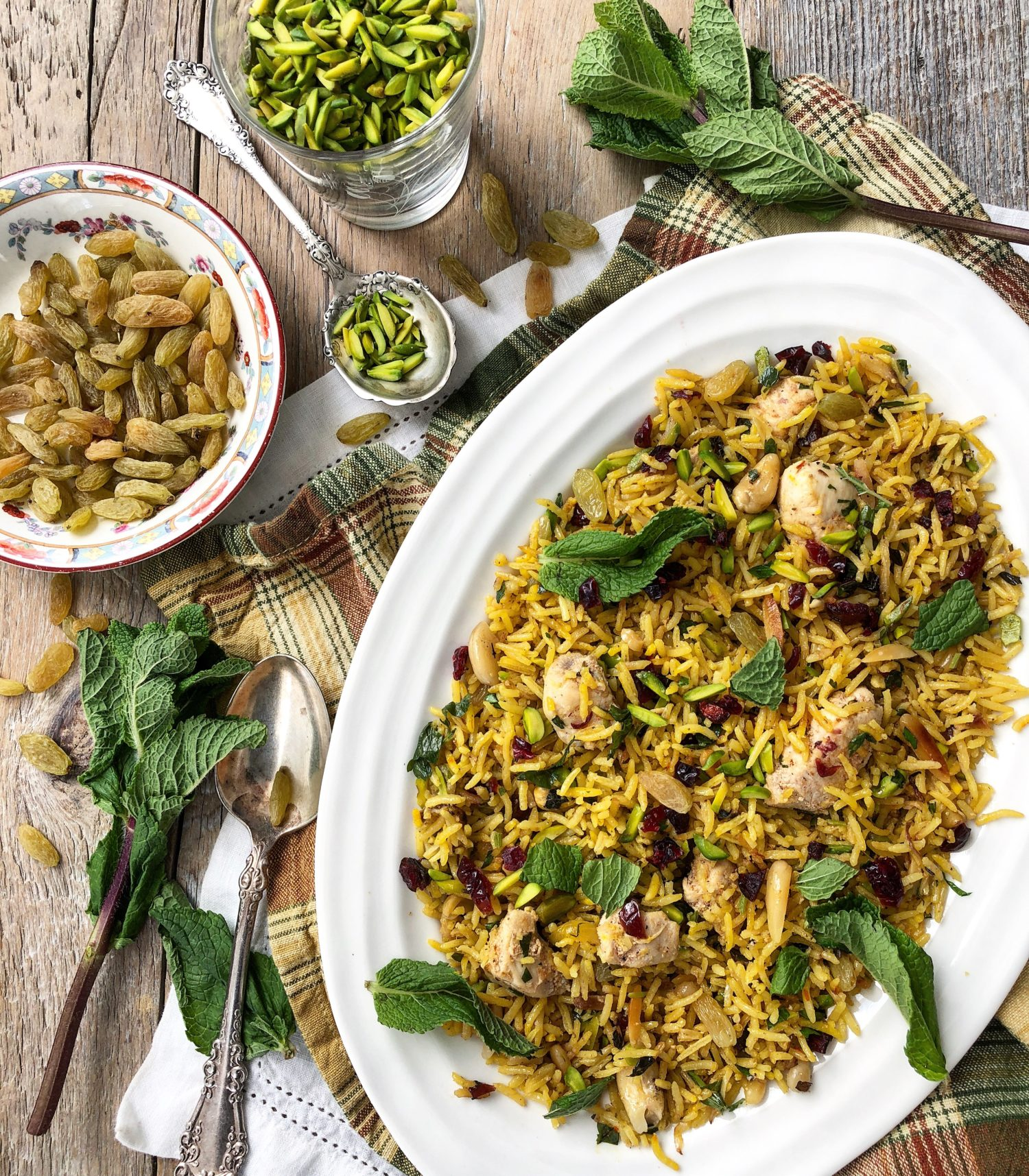 Saffron Scented Chicken Pilaf