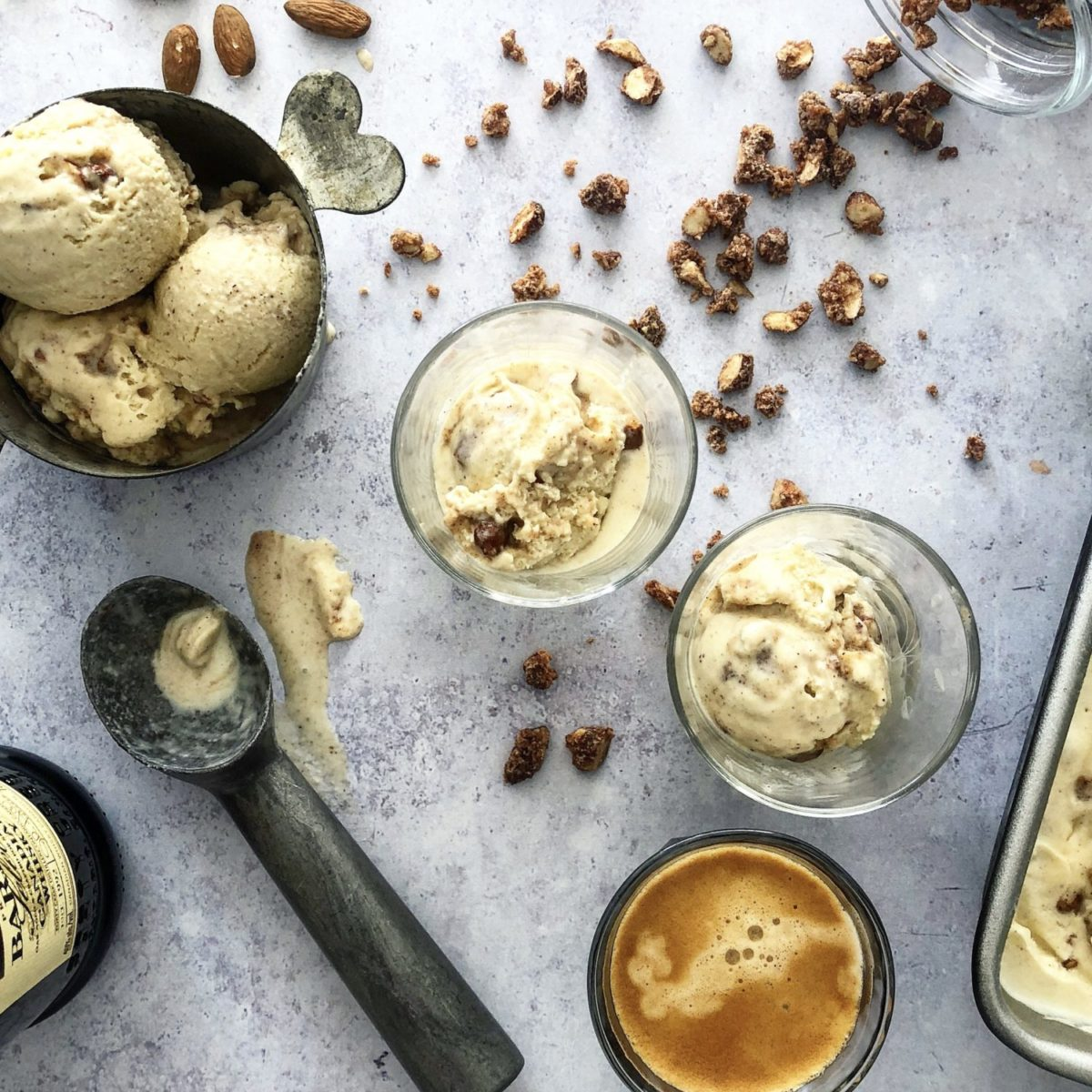 Horchata Candied Almond Ice Cream