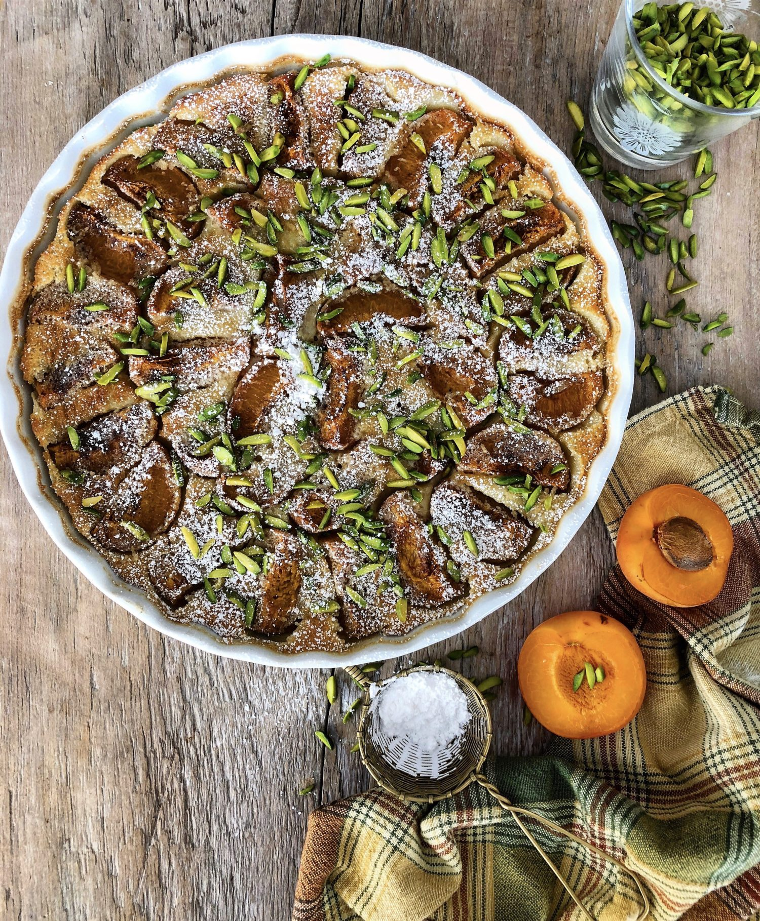 Cardamom Roasted Apricot Rosewater Clafoutis