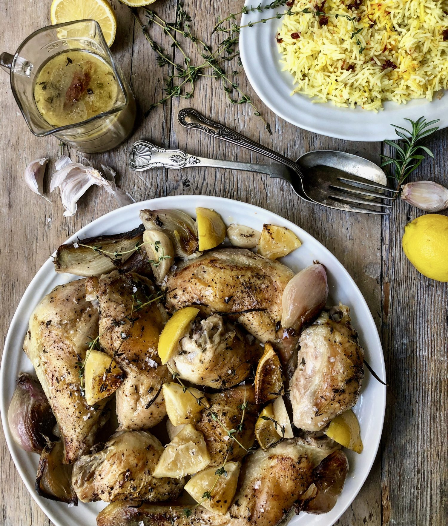 The most aromatic Mediterranean Chicken with 20 cloves of garlic