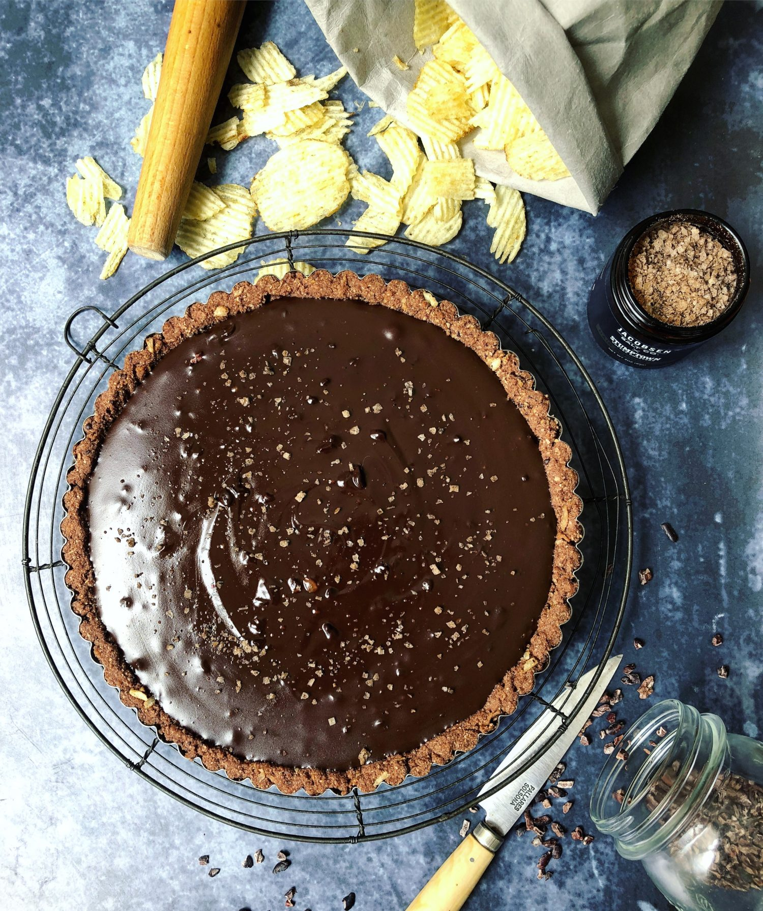 Rich and Decadent and easy Salted Coffee Chocolate Tart