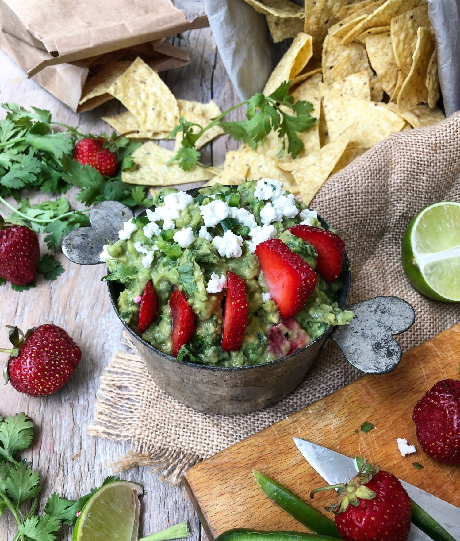 Strawberry Margarita Guacamole