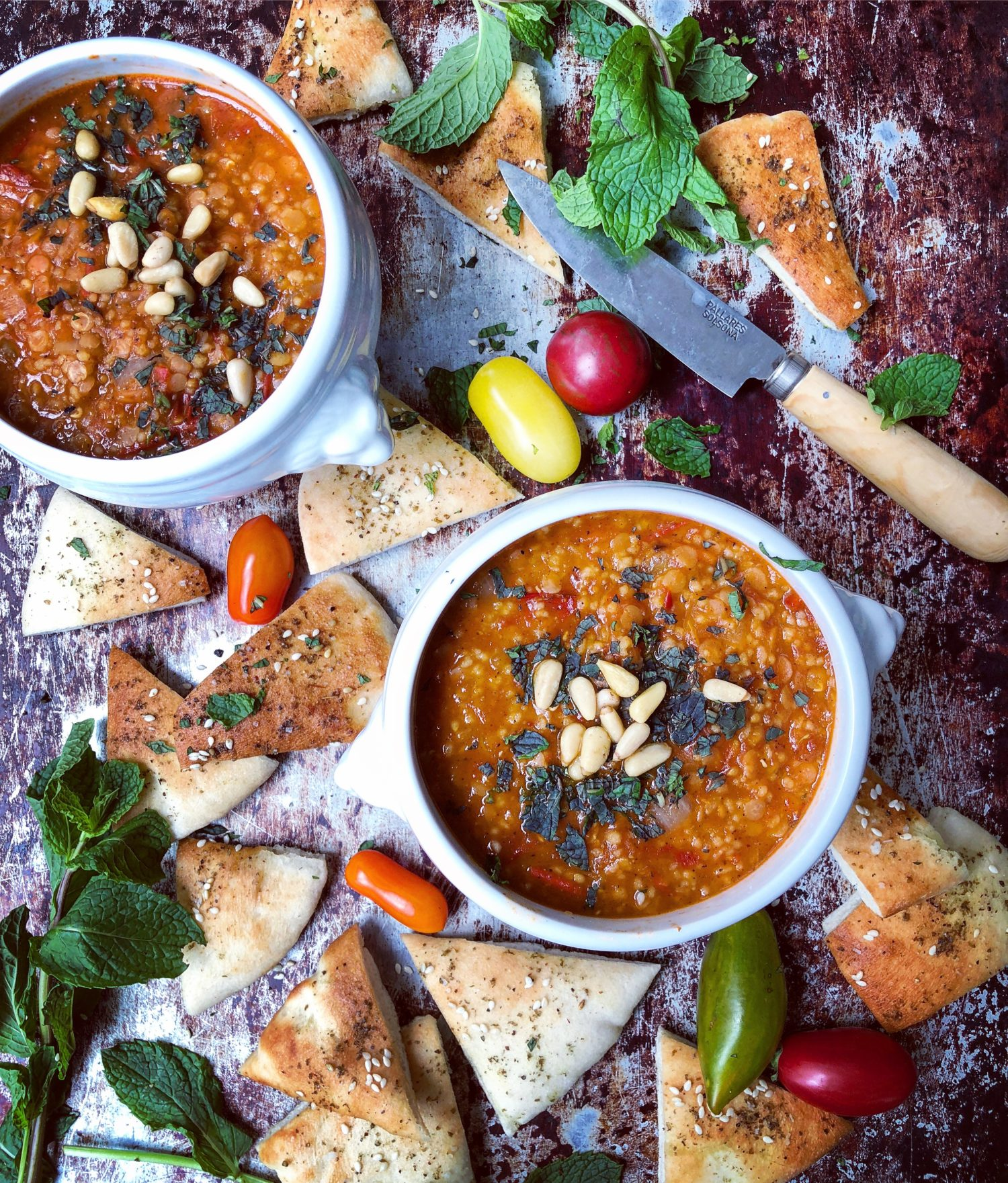 Spicy Moroccan Tomato and Red Lentil Soup