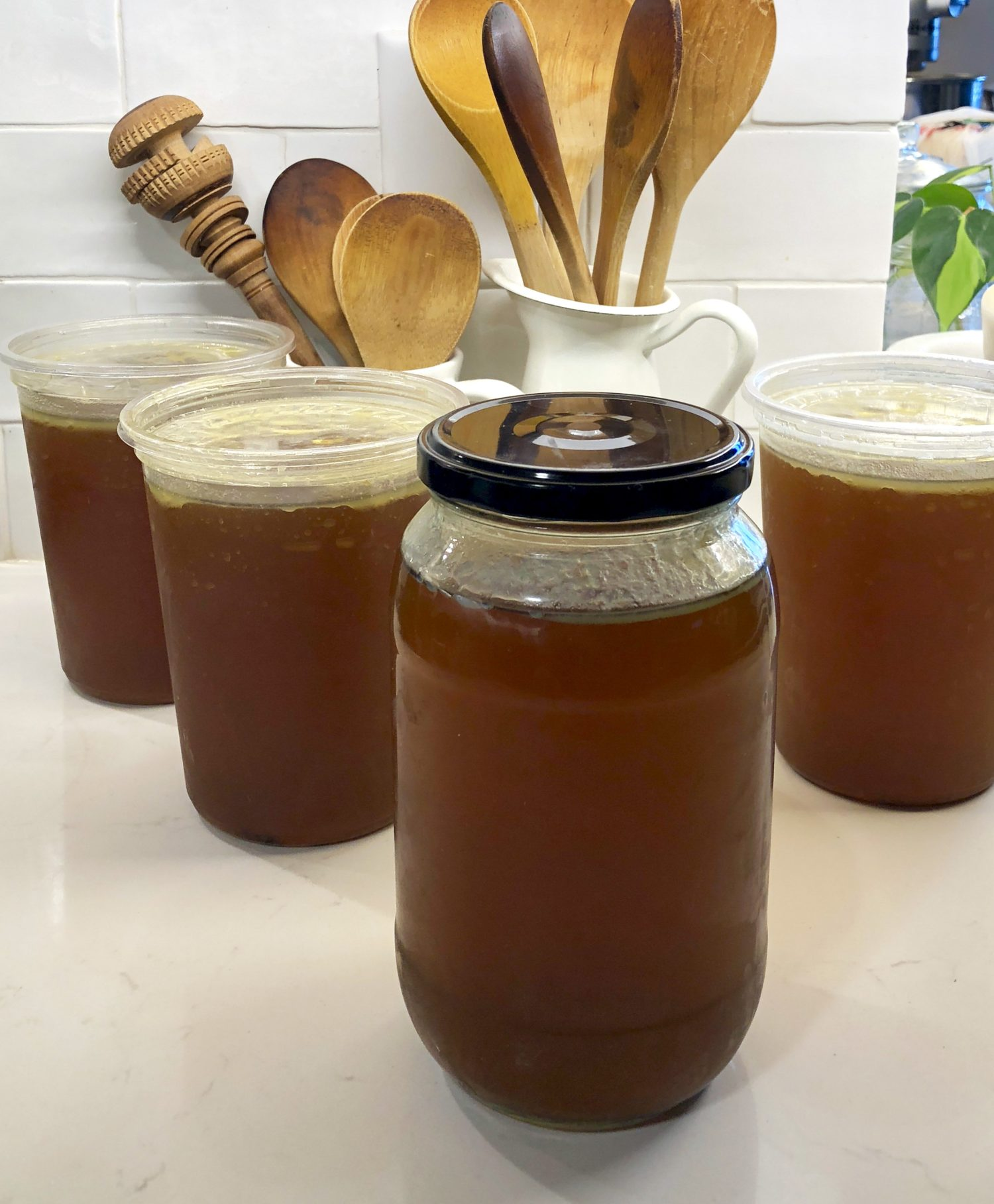 Rich and flavourful bone broth or stock