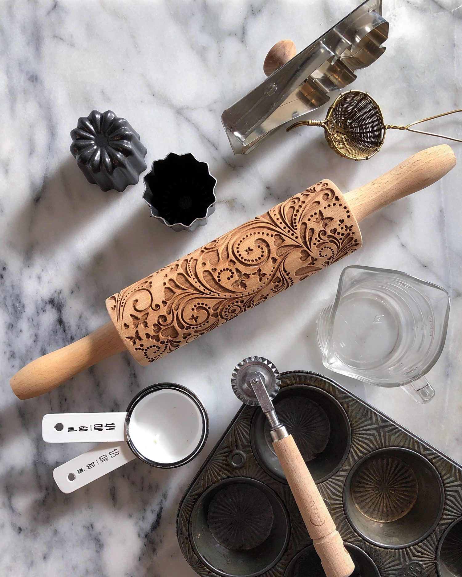 Embossed or Patterned Rolling Pin, kitchen tools