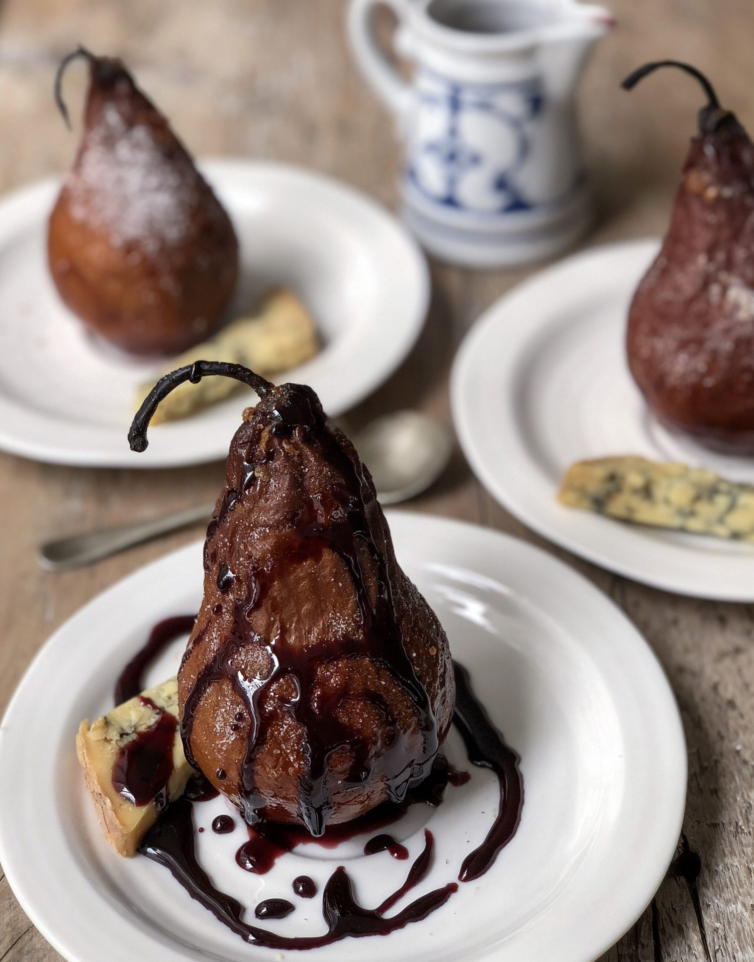 Spiced Wine Roasted Pears