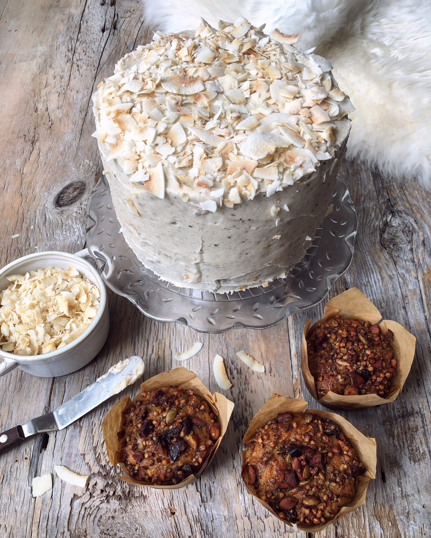 Cardamom Carrot Cake with allspice Cream Cheese Icing
