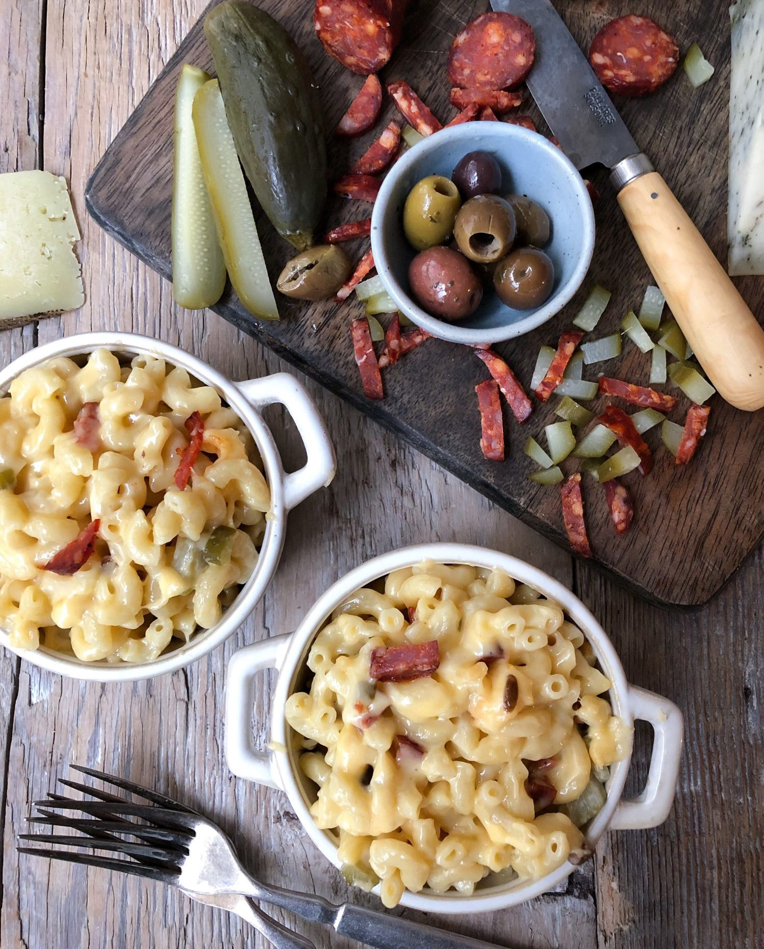 Charcuterie Board Mac and Cheese, stove top macaroni and cheese