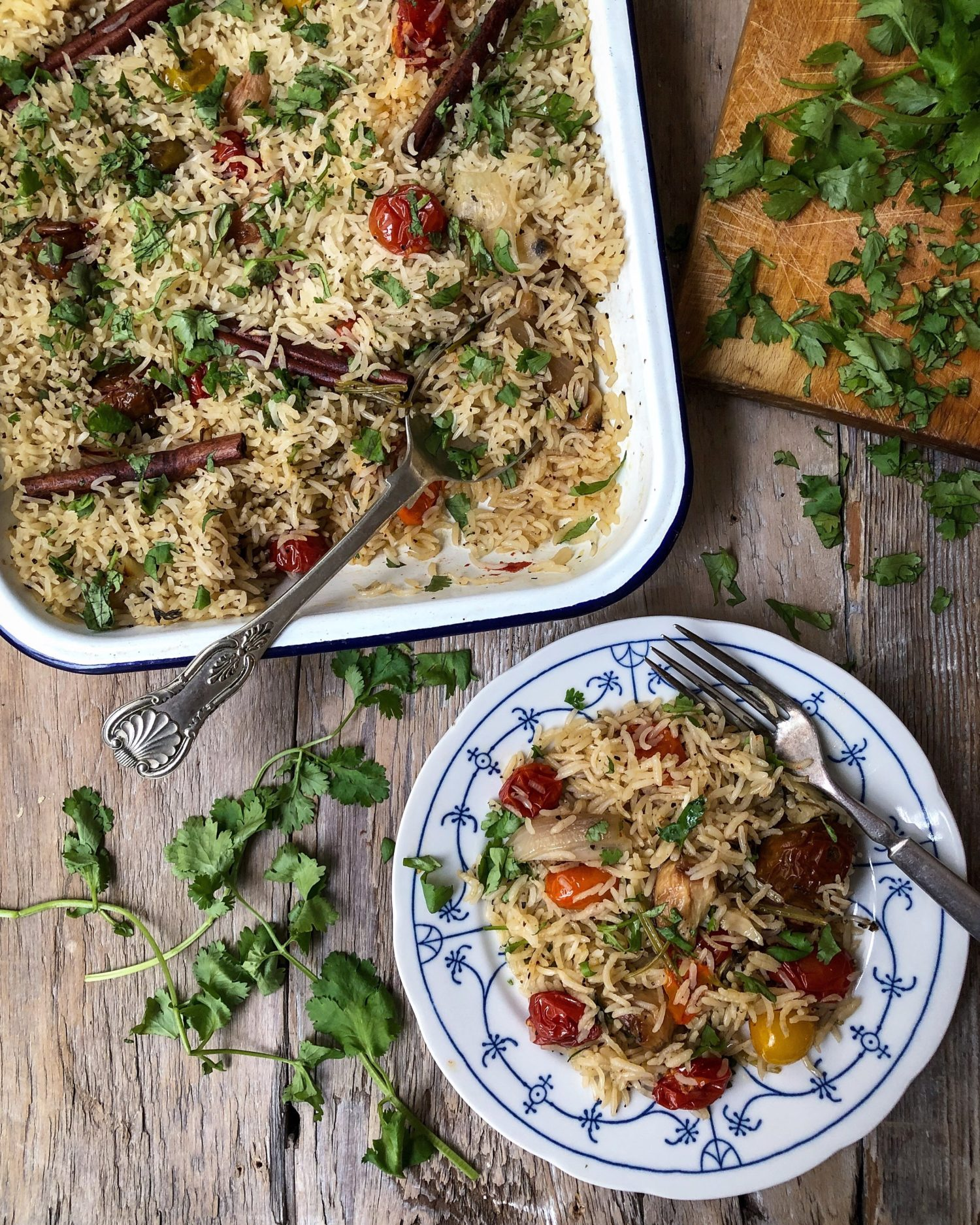 Tomato Confit Baked Rice