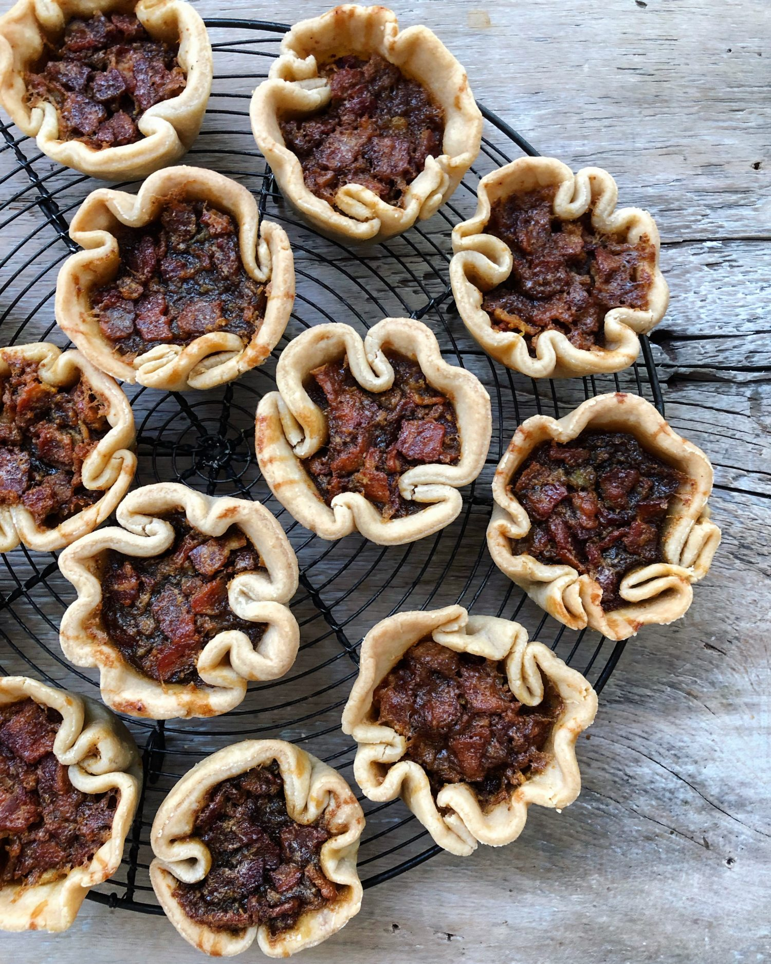 Brown Butter Maple Bacon Butter Tarts