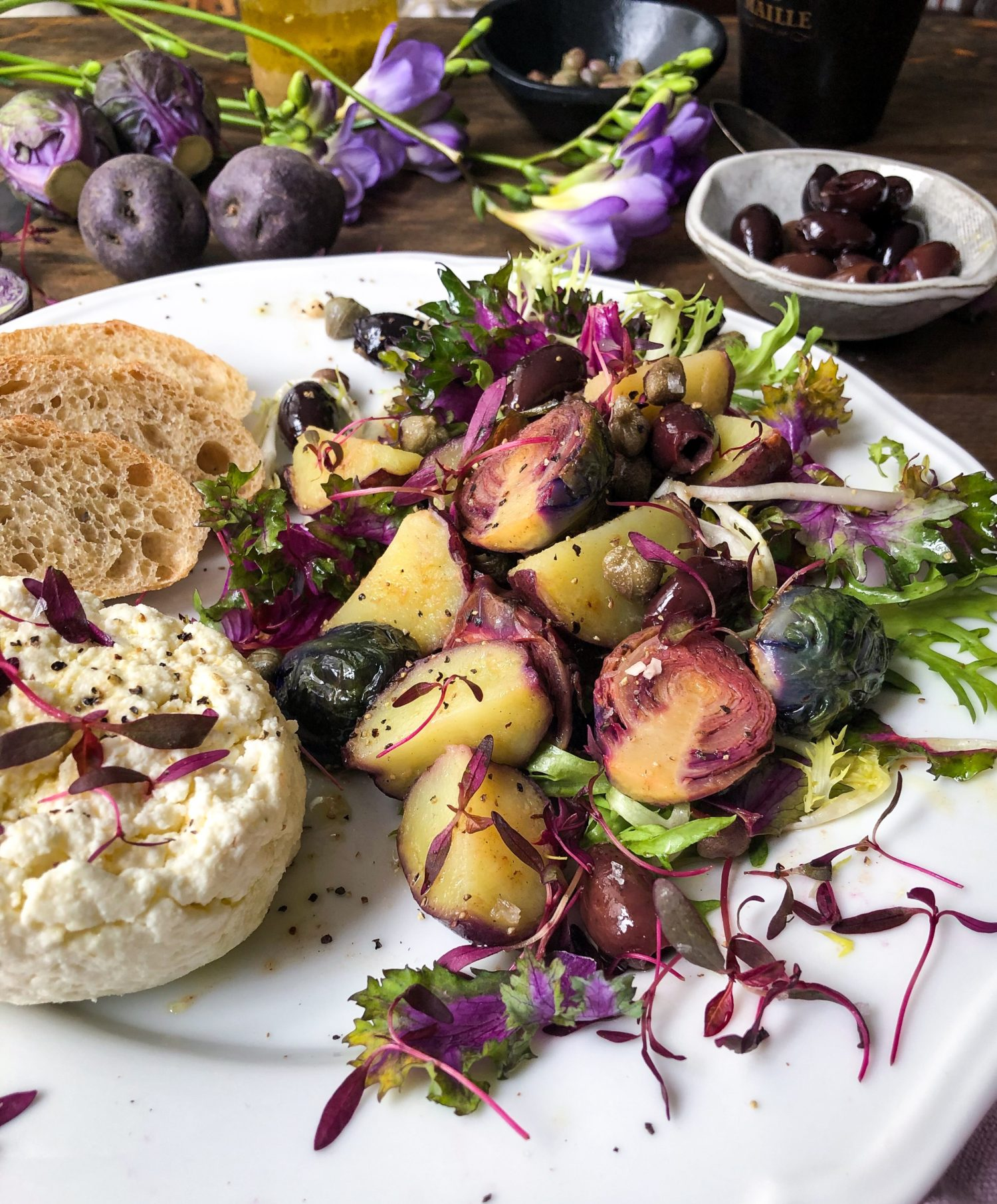 Homemade Ricotta and grilled Salad