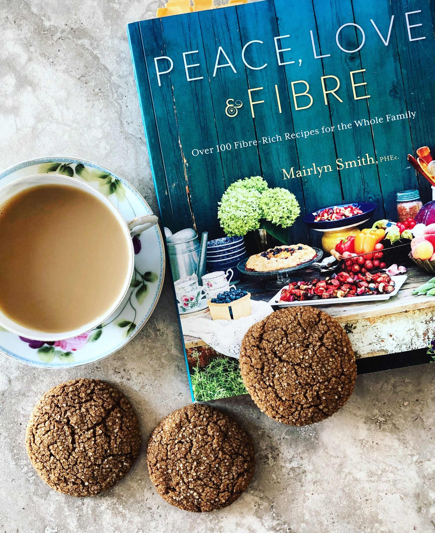 Ginger Molasses Cookies, Peace Love and Fibre by Mairlyn Smith
