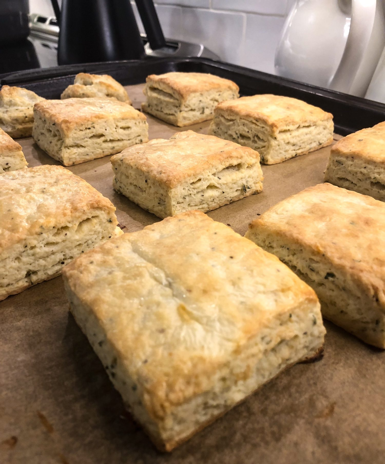 Thyme and Pepper Ricotta Biscuits