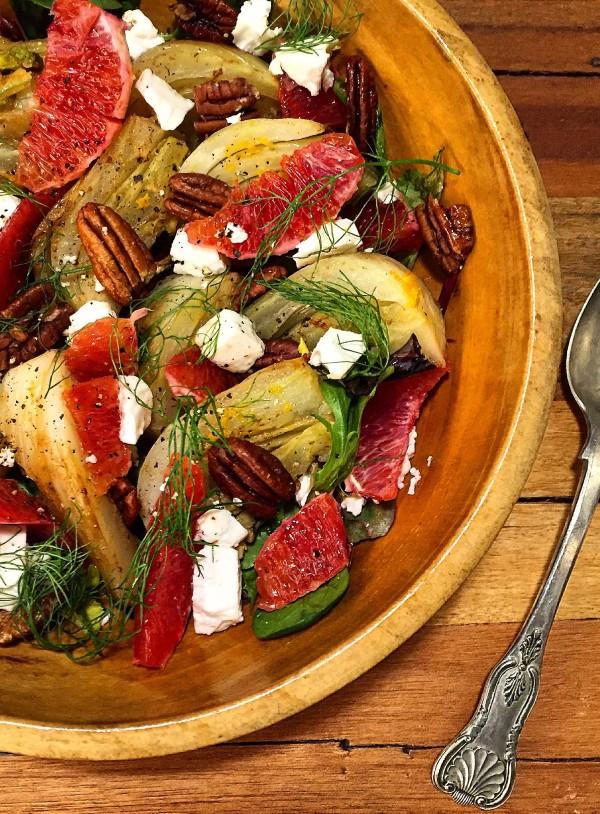 Braised Fennel and Blood Orange Salad