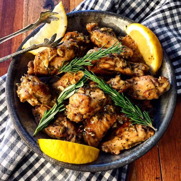 Sticky Garlicky Chicken Wings