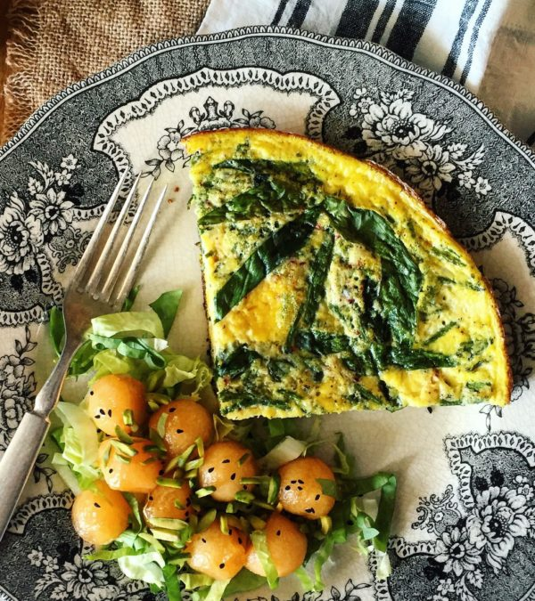 Ramp and Sea Asparagus Frittata