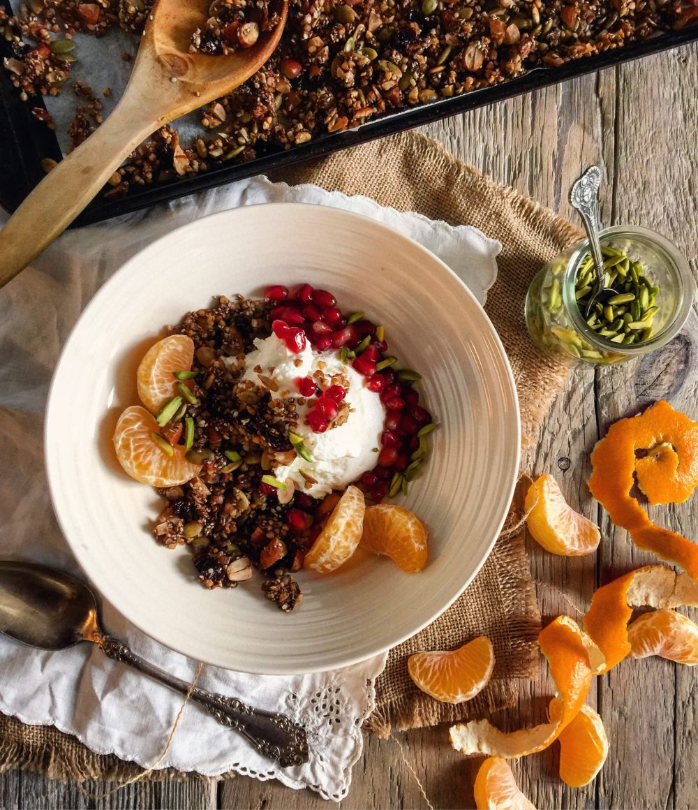 gingerbread buckwheat granola