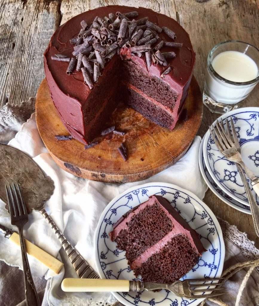 Classic Chocolate Cake with Chilli Chocolate Frosting