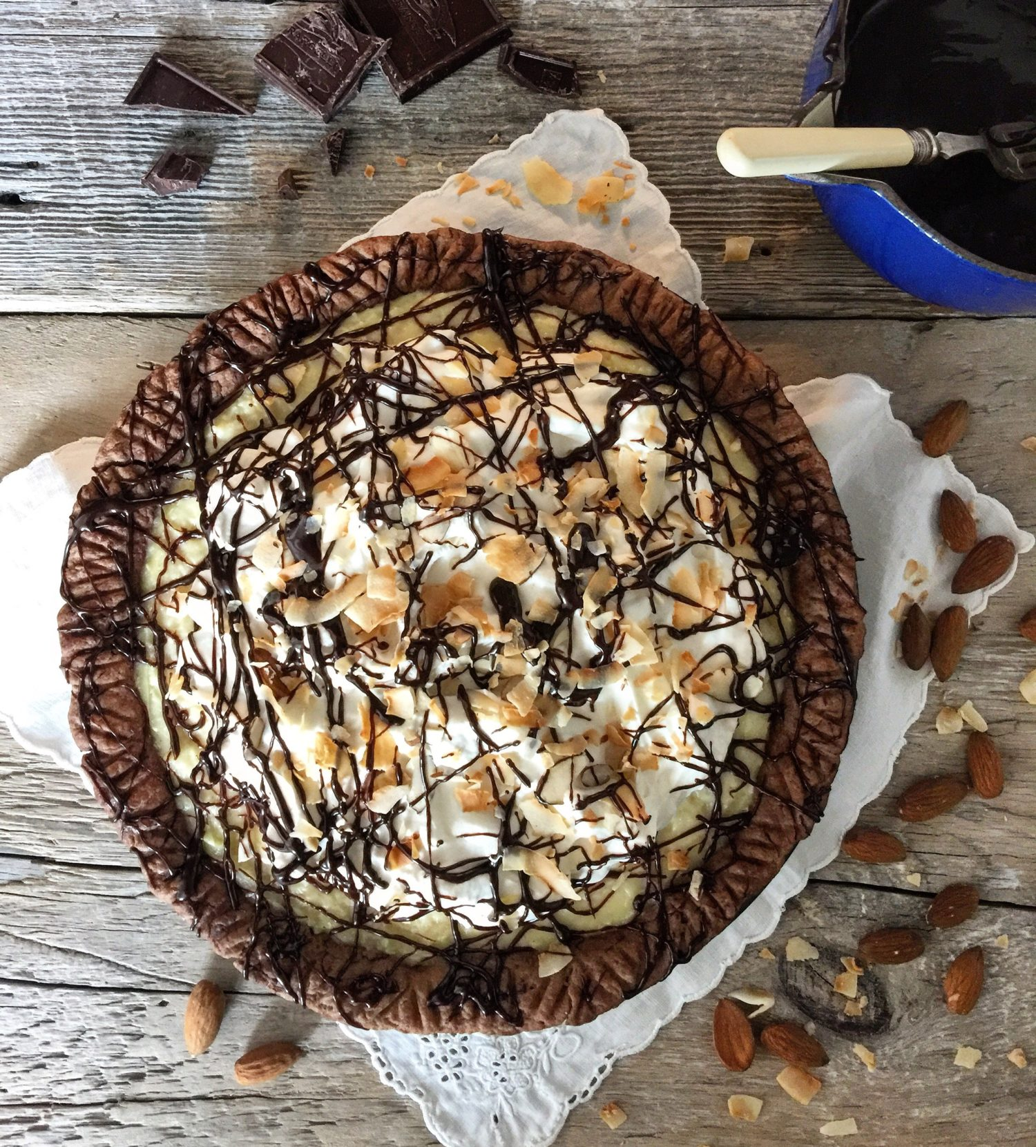 Almond Joy Coconut Cream Pie