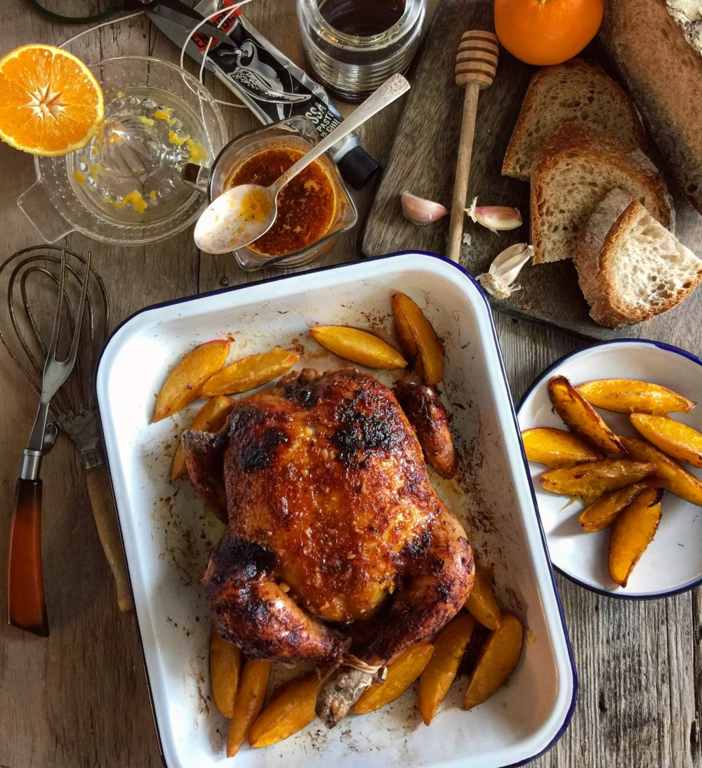 roast citrus ginger and honey chicken