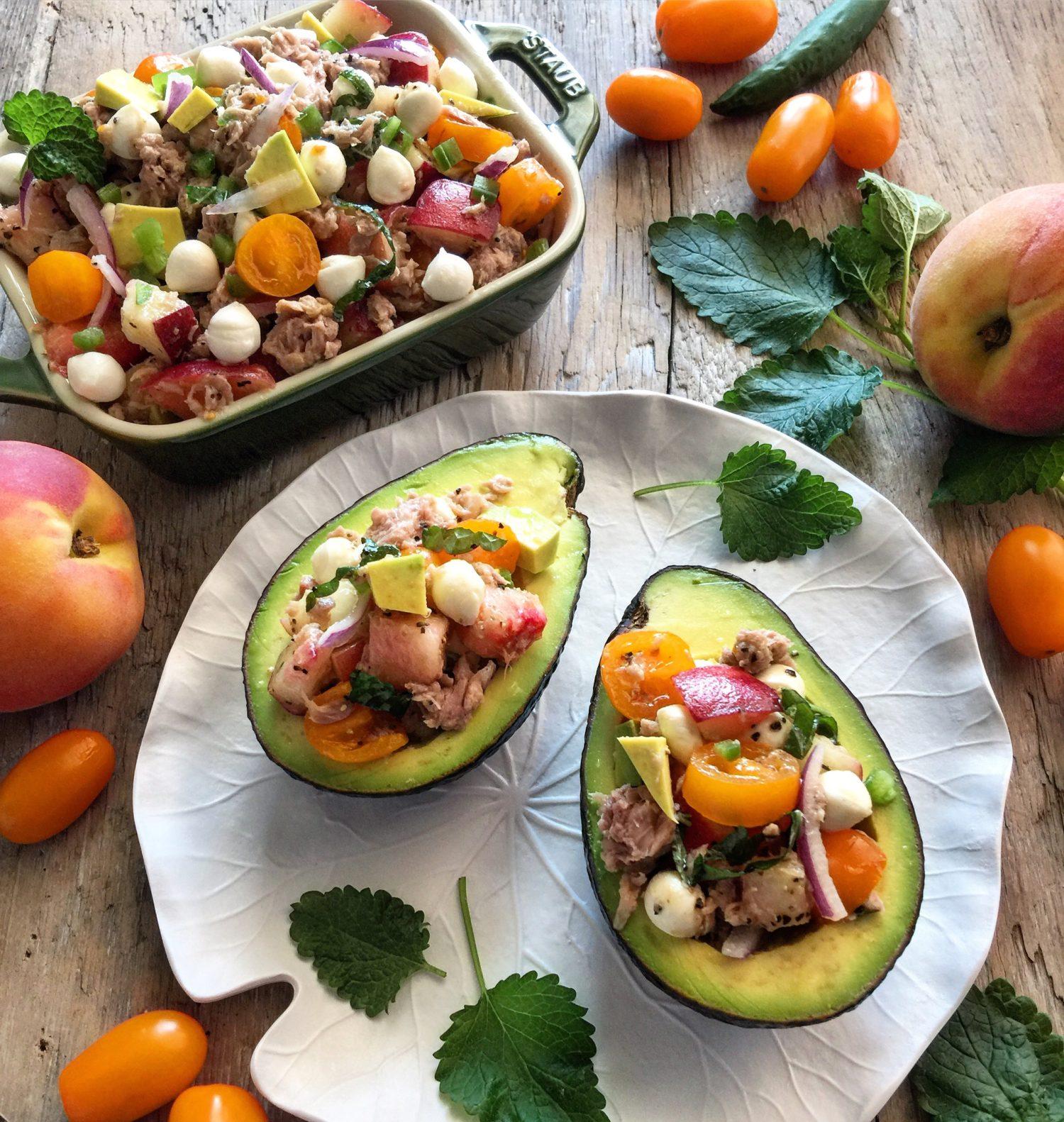 Bocconcini Pearl Tuna Caprese Salad