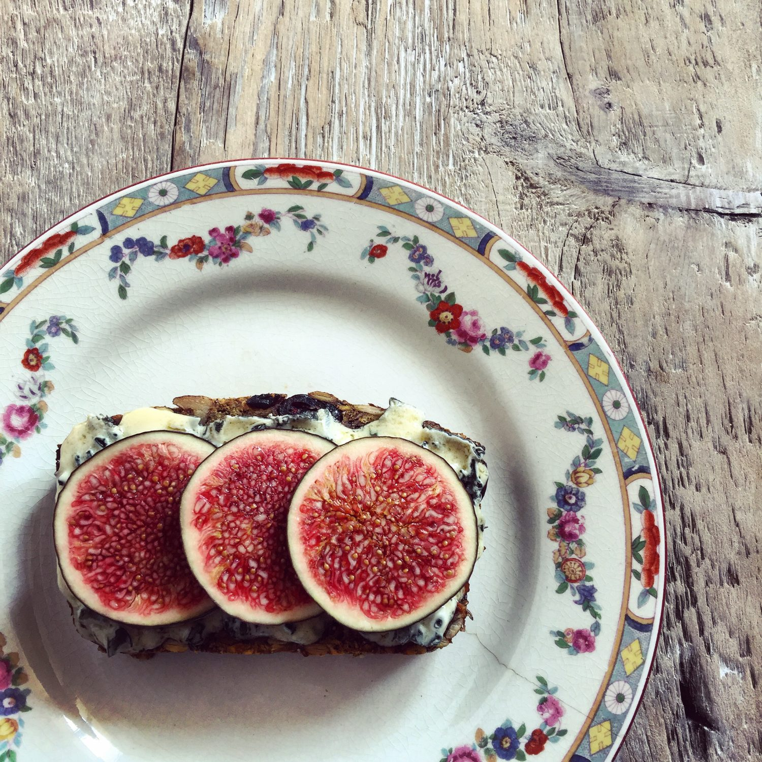 Nut and Seed Loaf with Blue Cheese and Fig