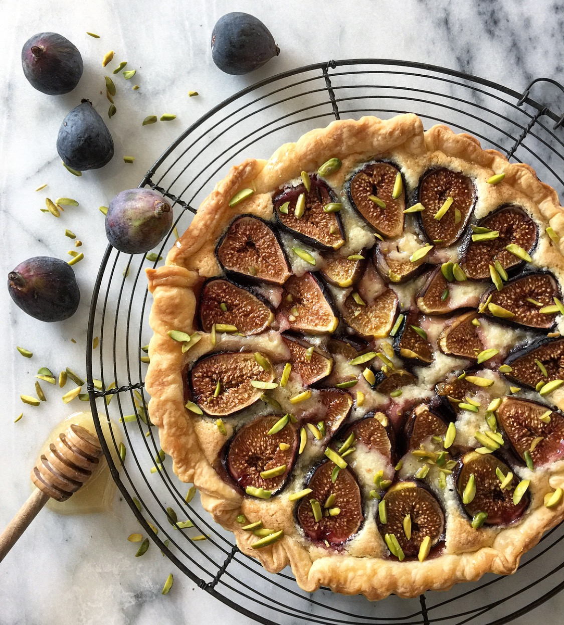 fig and frangipani tart