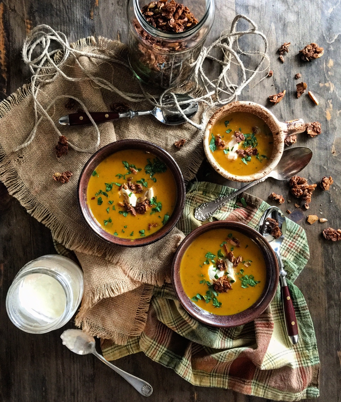 Curried Kabocha Squash Soup, easy Autumn soup