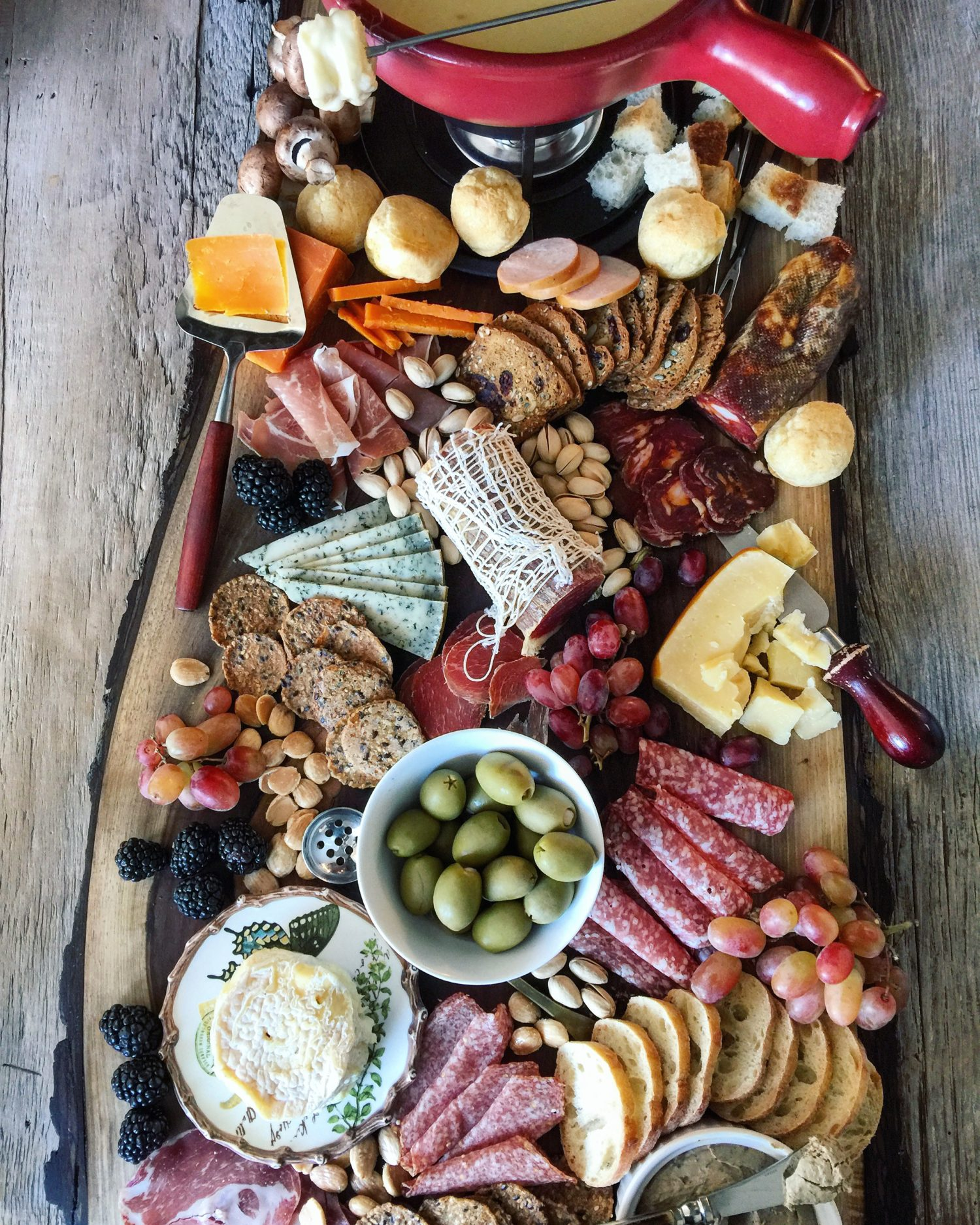Cheese Fondue and Charcuterie