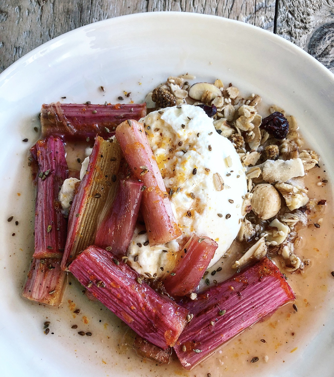 Roasted Rhubarb and Skyr